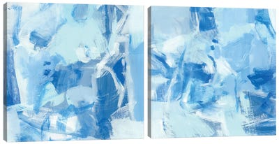 Blue Light Diptych Canvas Art Print