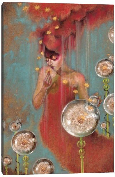 All Mine Dandelion Canvas Art Print