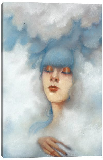 Hazy Canvas Art Print