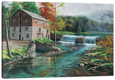 Everhart Mill Canvas Art Print