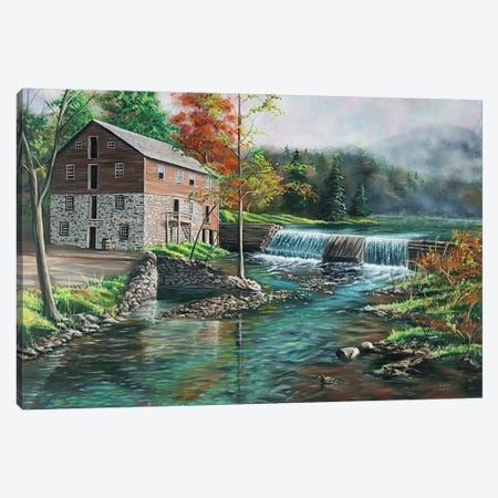 Everhart Mill Canvas Print #CLT10} by Christopher Lyter Canvas Wall Art
