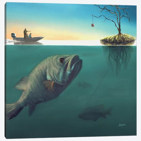 Fish Tales Canvas Print #CLT12} by Christopher Lyter Canvas Wall Art