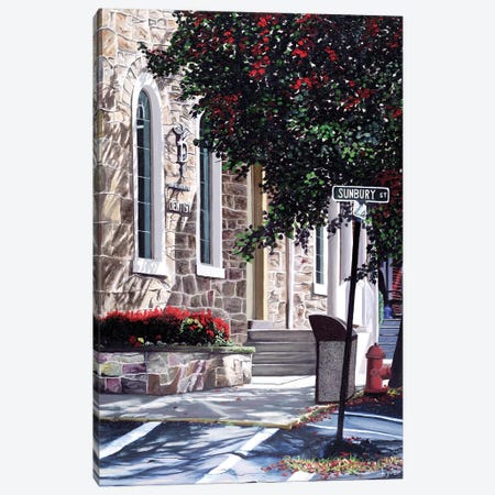 Sunbury Street Canvas Print #CLT27} by Christopher Lyter Canvas Wall Art