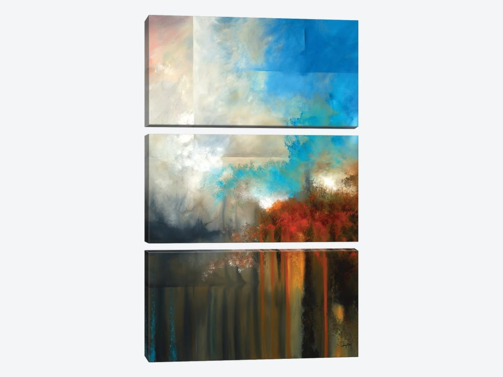 Uncharted Waters by Christopher Lyter 3-piece Canvas Art Print