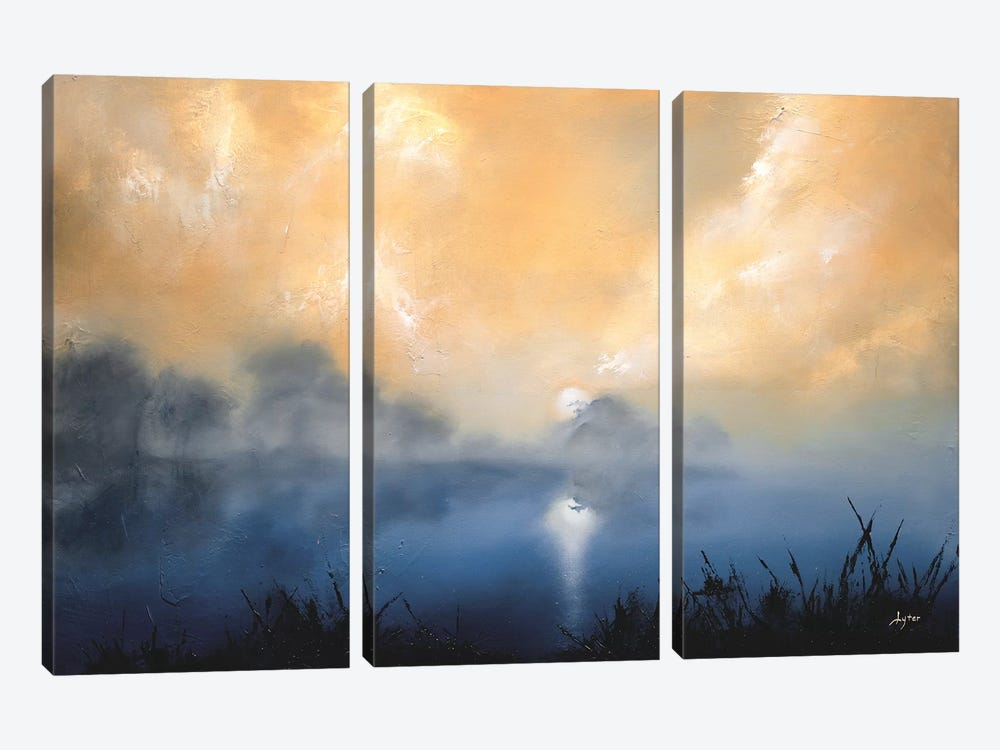 Calm and Quiet by Christopher Lyter 3-piece Canvas Artwork