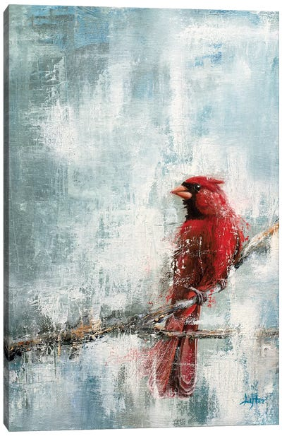 Wintry Red Canvas Art Print