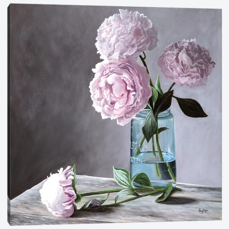 Lisa's Peonies Canvas Print #CLT48} by Christopher Lyter Canvas Art Print