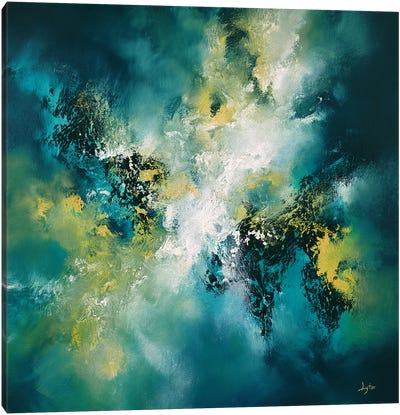 The Waves Of A Turbulent Sea Canvas Art Print