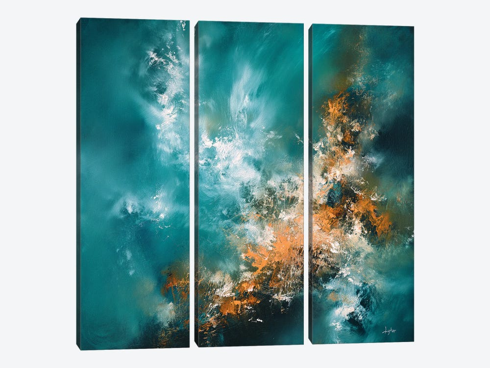Fire From Above by Christopher Lyter 3-piece Canvas Wall Art