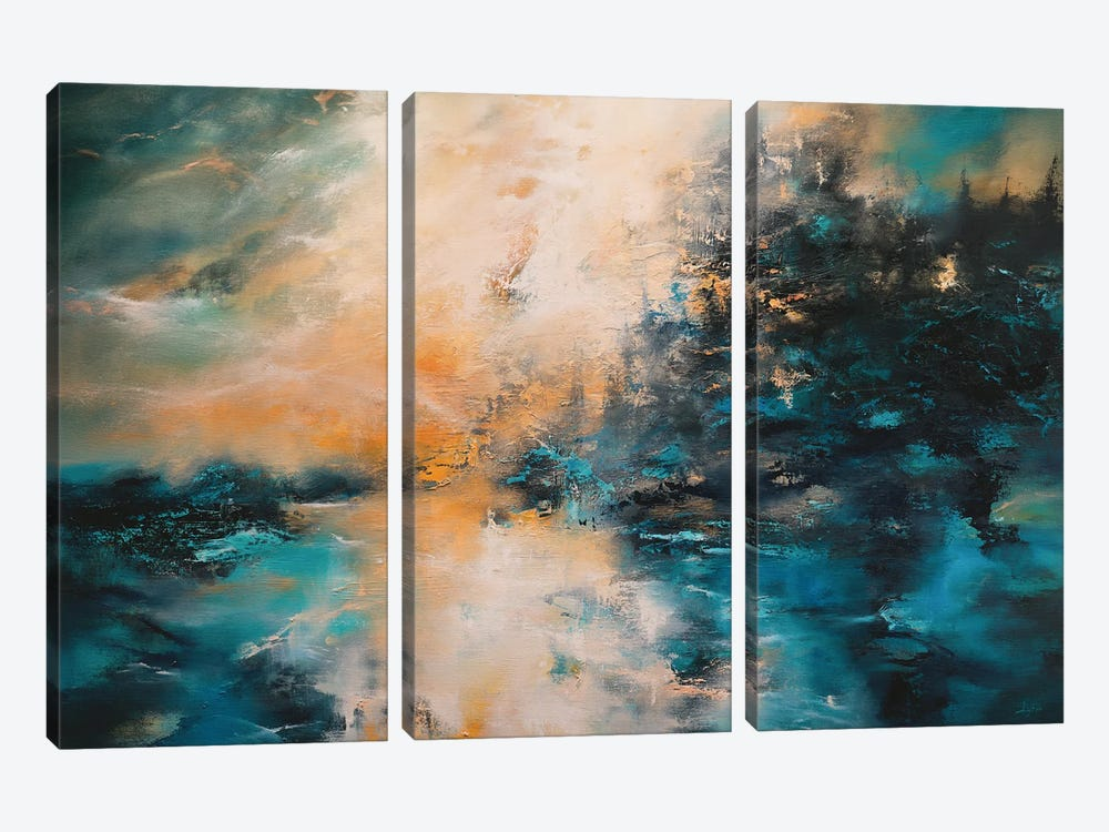 The Mountains, The Forest, And The Sea by Christopher Lyter 3-piece Canvas Art
