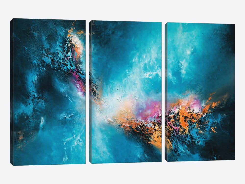 The Deeper The Blue by Christopher Lyter 3-piece Canvas Artwork