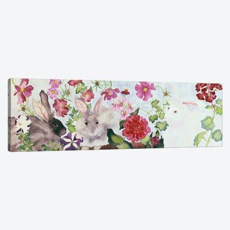 Rabbit Family Canvas Print #CLU114} by Carissa Luminess Canvas Artwork