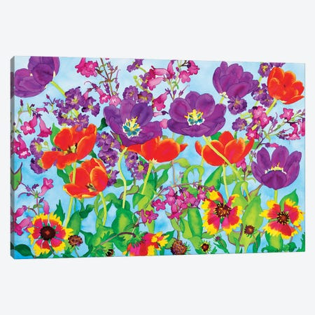 Spring Showers Canvas Print #CLU140} by Carissa Luminess Canvas Artwork