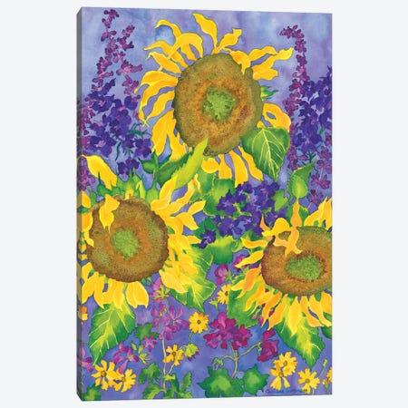 Sunflower Power Canvas Print #CLU143} by Carissa Luminess Canvas Artwork