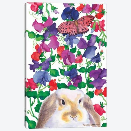 Bunny Love Canvas Print #CLU19} by Carissa Luminess Art Print