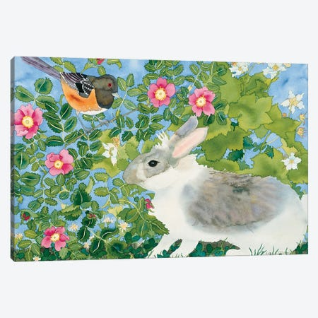 Bunny with Towee Canvas Print #CLU24} by Carissa Luminess Canvas Art Print