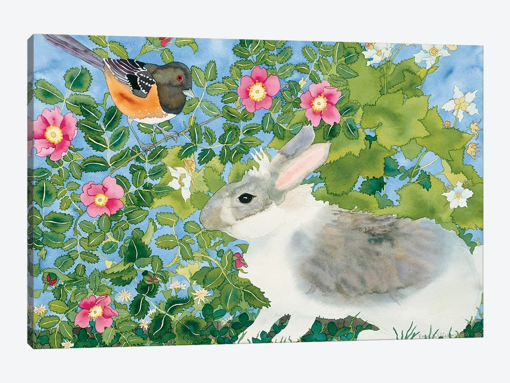 Bunny with Towee by Carissa Luminess 1-piece Canvas Print