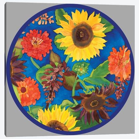 Fall Change-Circle Canvas Print #CLU50} by Carissa Luminess Art Print