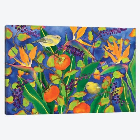 Amakihi Delight Canvas Print #CLU5} by Carissa Luminess Canvas Wall Art