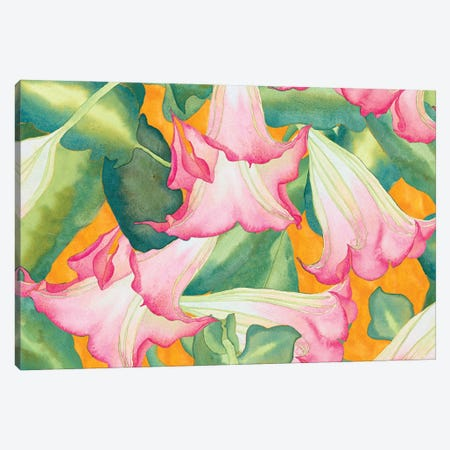 Heavenly Divine- Angel Trumpets Canvas Print #CLU68} by Carissa Luminess Canvas Wall Art