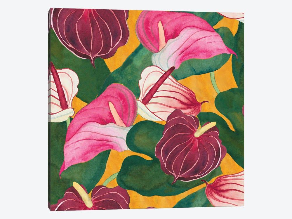 Heavenly Divine- Anthuriums by Carissa Luminess 1-piece Canvas Artwork