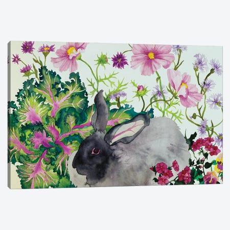Hubert with Kale Canvas Print #CLU73} by Carissa Luminess Art Print