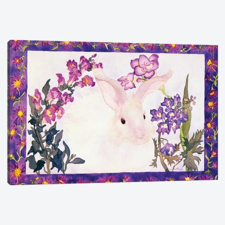 Aster Bunny Canvas Print #CLU7} by Carissa Luminess Canvas Artwork