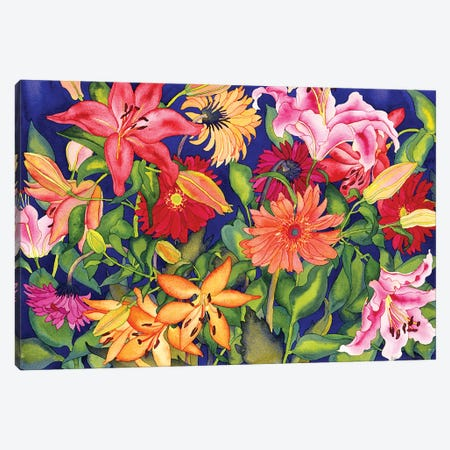 Lilies and Gerbers Canvas Print #CLU82} by Carissa Luminess Canvas Art
