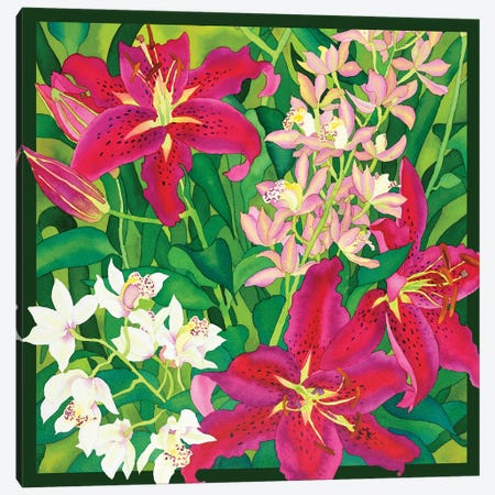 Lilly Love - Square Canvas Print #CLU83} by Carissa Luminess Canvas Art