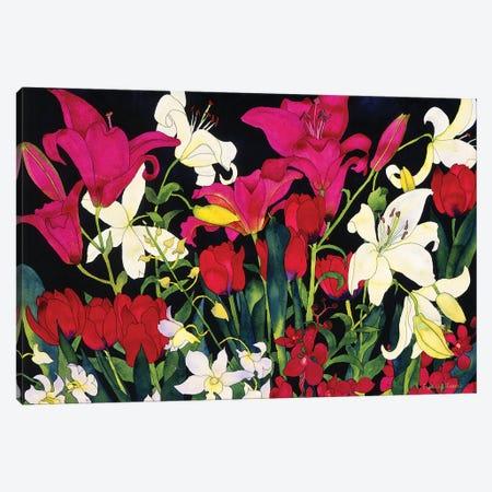 Luscious Lilies Canvas Print #CLU89} by Carissa Luminess Canvas Art