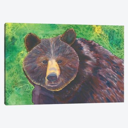 Bear Canvas Print #CLU9} by Carissa Luminess Art Print