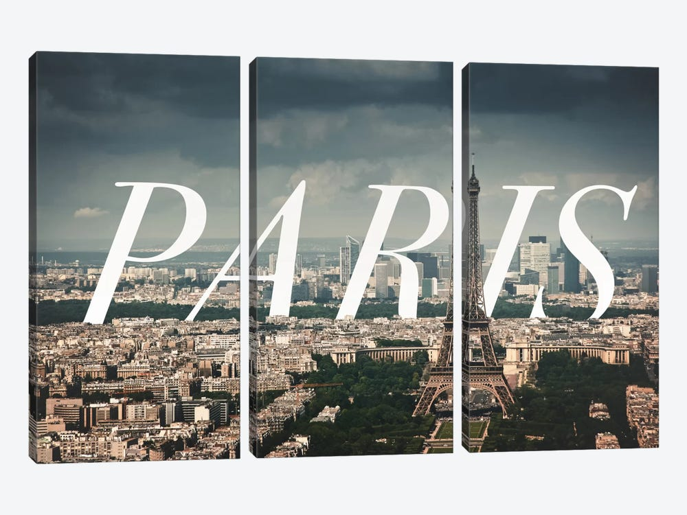 Paris by 5by5collective 3-piece Canvas Art