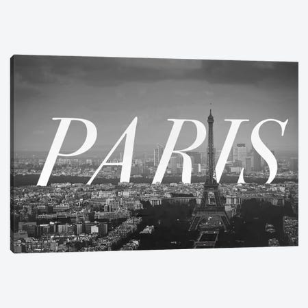 B/W Paris Canvas Print #CLV12} by 5by5collective Canvas Art