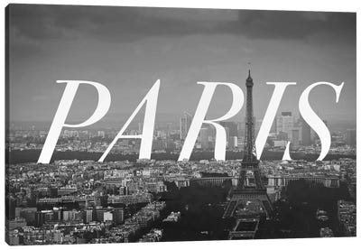 B/W Paris Canvas Art Print