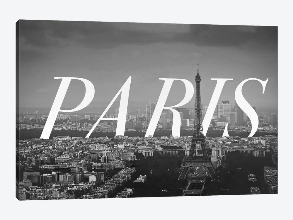 B/W Paris by 5by5collective 1-piece Canvas Artwork