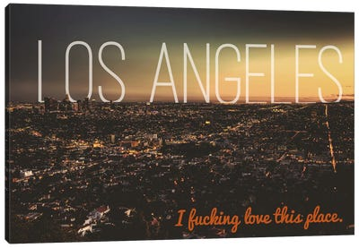 L.A. Love Canvas Art Print