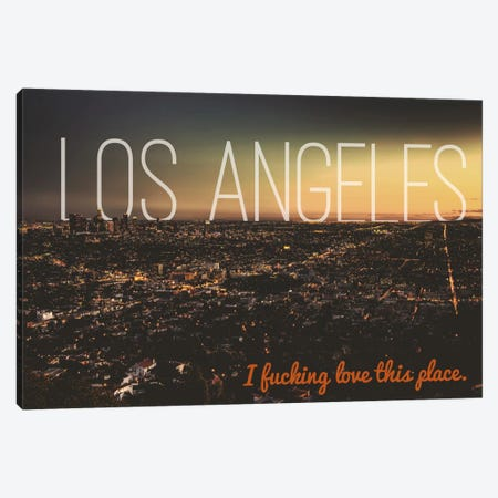 L.A. Love Canvas Print #CLV13} by 5by5collective Canvas Wall Art