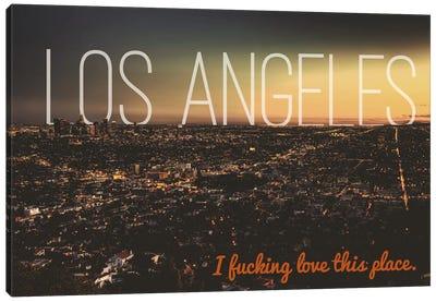 L.A. Love Canvas Art Print