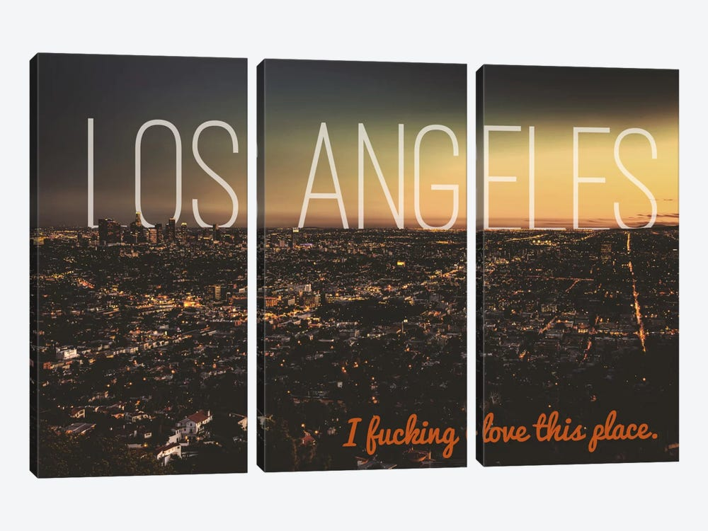 L.A. Love by 5by5collective 3-piece Canvas Print