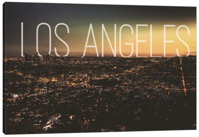 L.A. Canvas Art Print