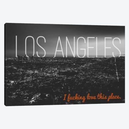 B/W L.A. Love Canvas Print #CLV15} by 5by5collective Canvas Print
