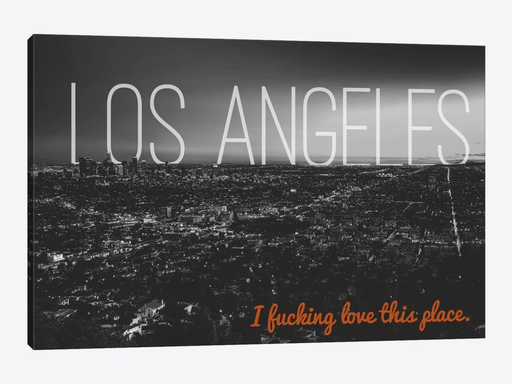 B/W L.A. Love by 5by5collective 1-piece Art Print