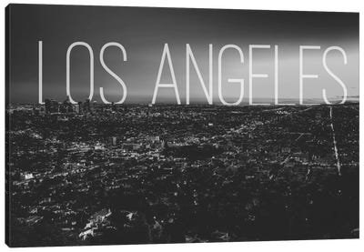 B/W L.A. Canvas Art Print