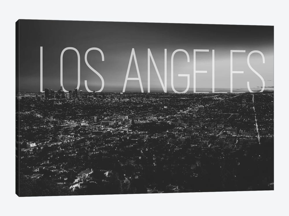 B/W L.A. by 5by5collective 1-piece Canvas Art
