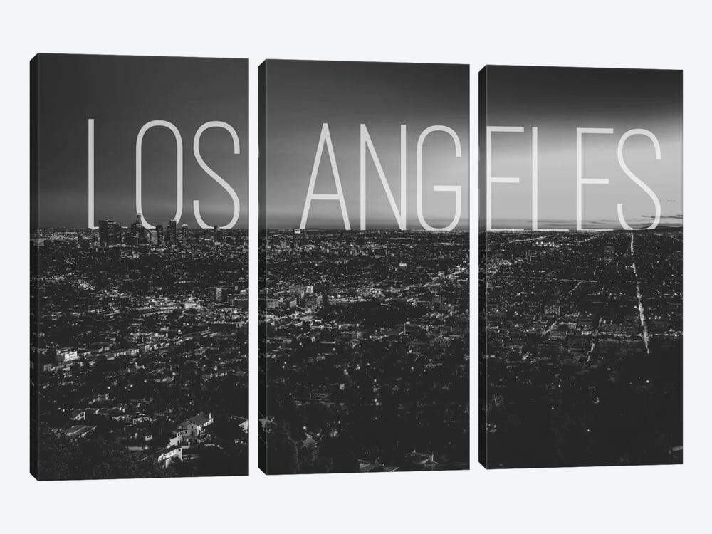 B/W L.A. by 5by5collective 3-piece Canvas Artwork