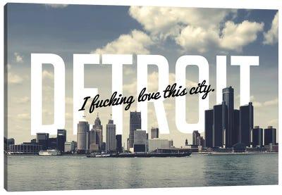 Detroit Love Canvas Print #CLV17