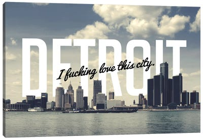 Detroit Love Canvas Art Print
