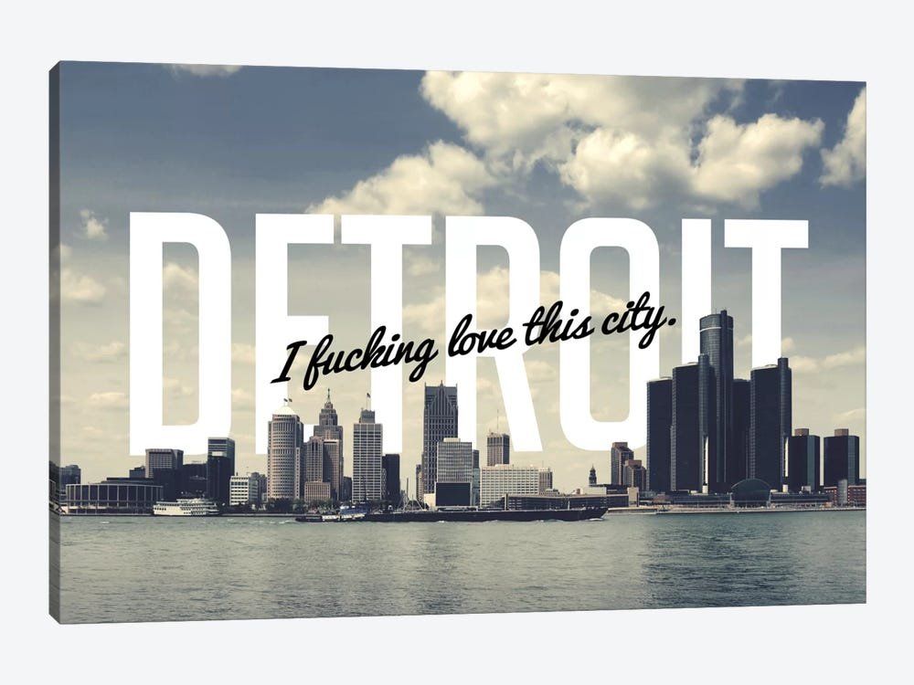 Detroit Wall Art detroit love canvas wall art5by5collective | icanvas