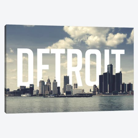 Detroit Canvas Print #CLV18} by 5by5collective Canvas Wall Art