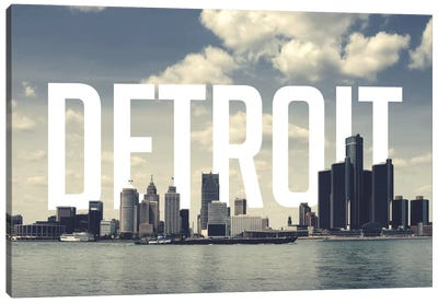 Detroit Canvas Art Print